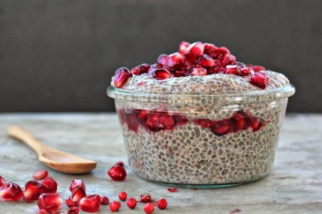 блюда с семенами чиа